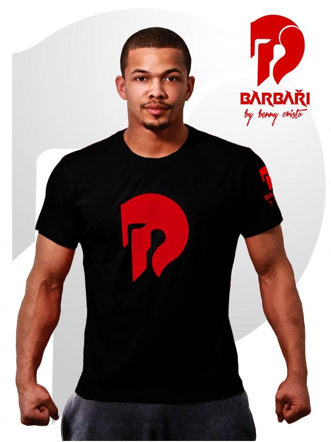 Barbarské tričko - pánské černé
