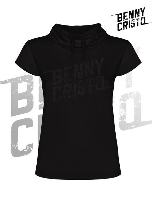 Benny Cristo tričko - dámské s vysokým límcem černé - Design 2017