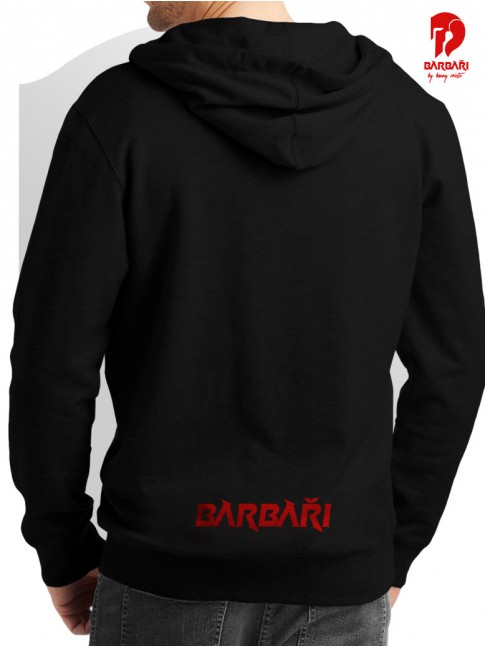 Barbarská mikina - pánská černá