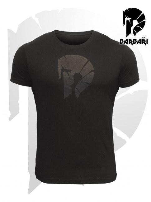Barbarské tričko s potrhanou helmou - pánské BLACK EDITION