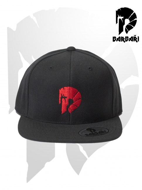Barbarská kšiltovka Snapback černá s červenou výšivkou