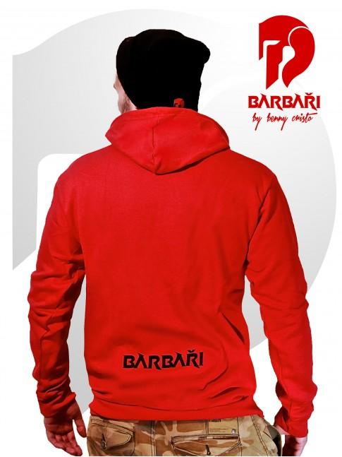 Barbarská mikina - pánská červená