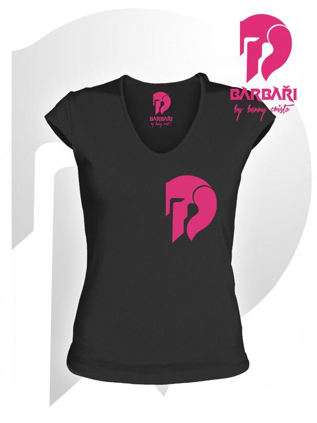 Barbarské tričko - dámské černé