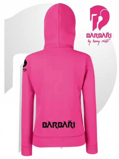 Barbarská mikina- dámská růžová