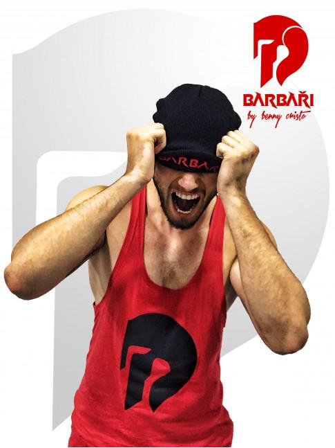 Barbarský nátělník červený - pánský
