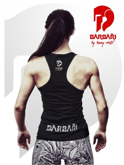 Barbarské tílko - dámské černé - ZEBRA