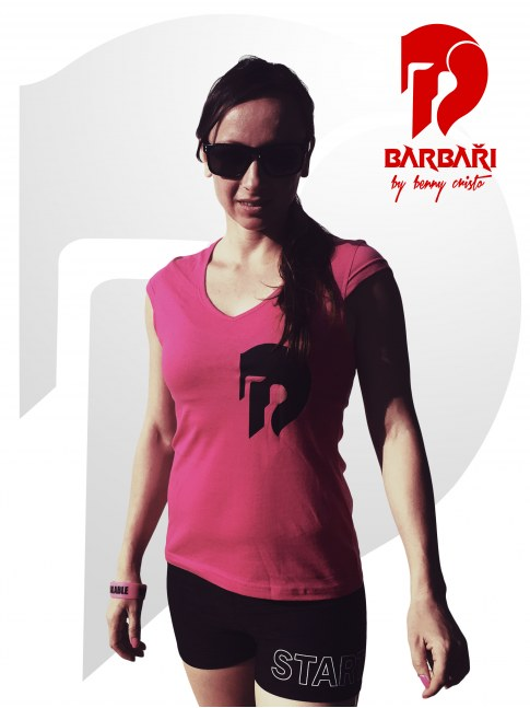 Barbarské tričko - dámské růžové