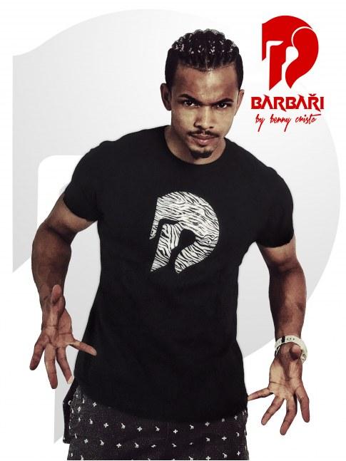 Barbarské tričko - pánské černé - ZEBRA