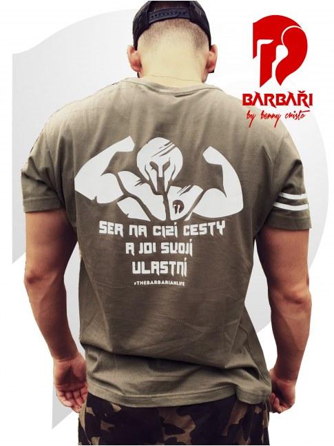 Barbarské tričko MAR10 - S*r na cizí cesty