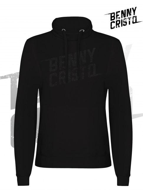 Benny Cristo mikina - pánská s vysokým límcem černá - Design 2017