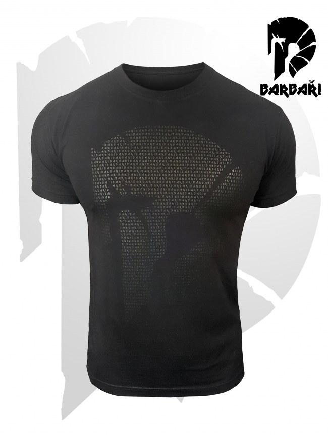 Barbarské tričko s mikronápisy - pánské BLACK EDITION