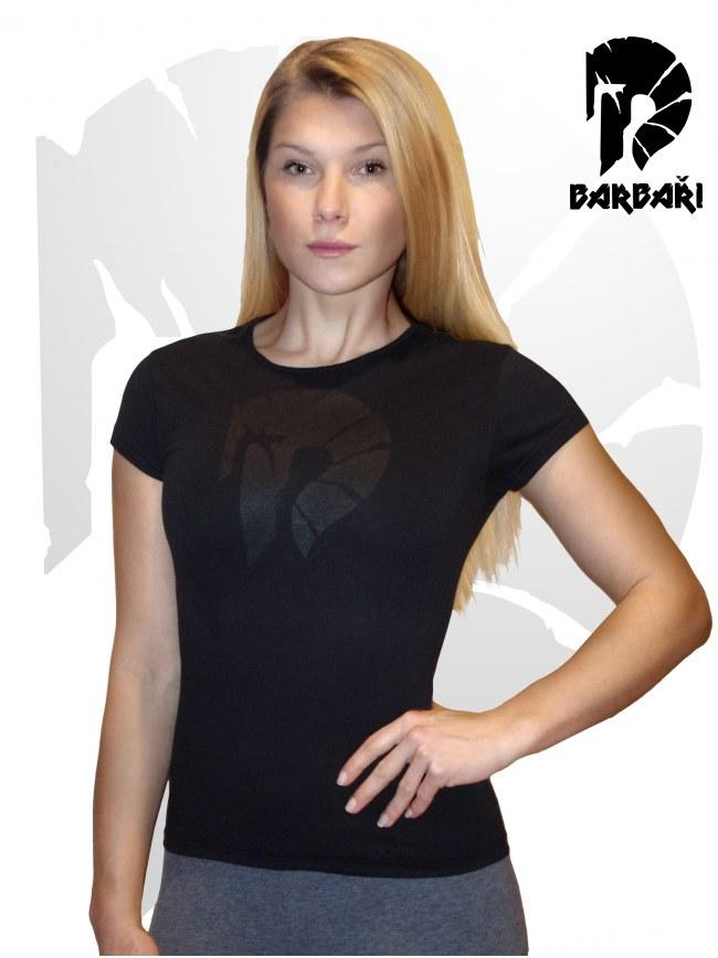 Barbarské tričko s potrhanou helmou - Dámské BLACK EDITION